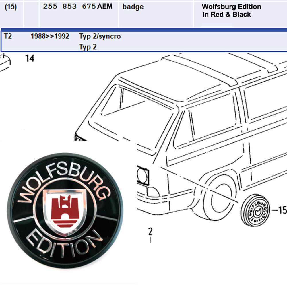 Lai Kam Wah Sdn. Bhd. Specialist in VW Aircooled Parts - 255853675AEM - Wolfsburg Edition In Red & Black