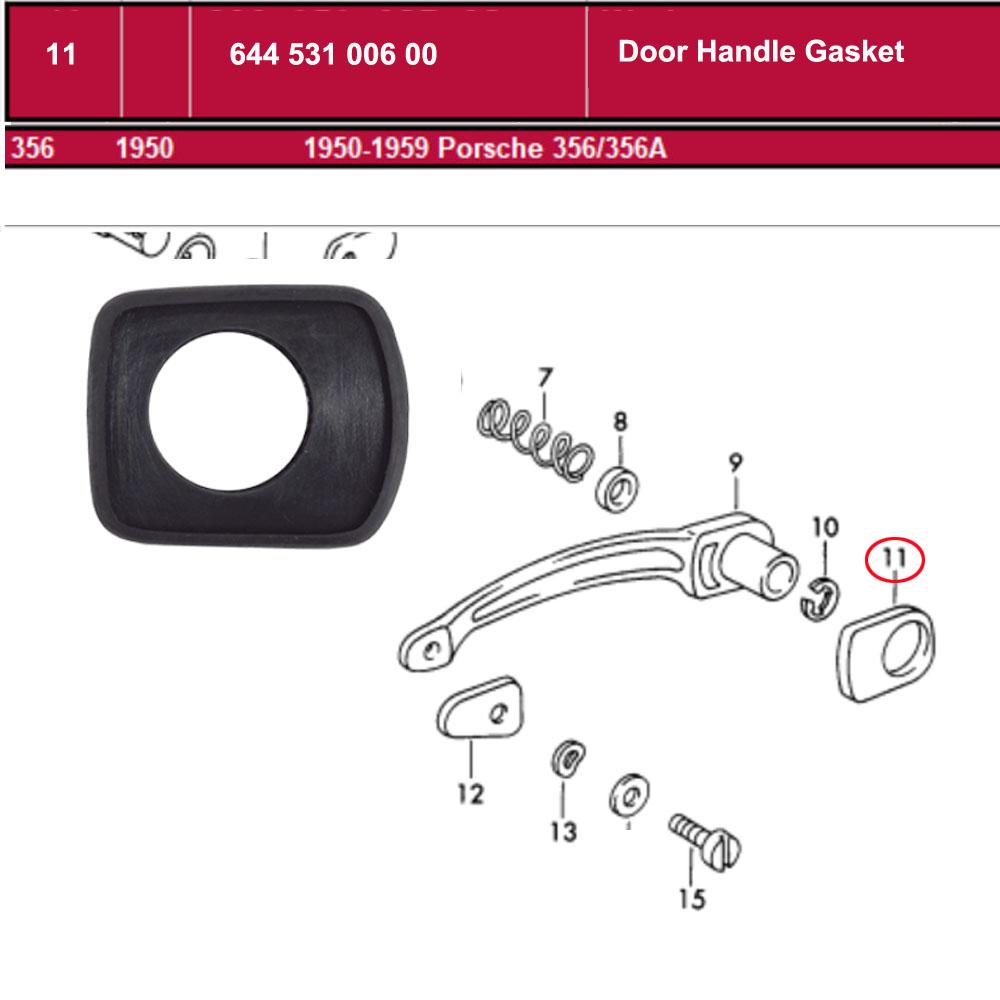 Lai Kam Wah Sdn. Bhd. Specialist in VW Aircooled Parts - 64453100600 - Door Handle Gasket