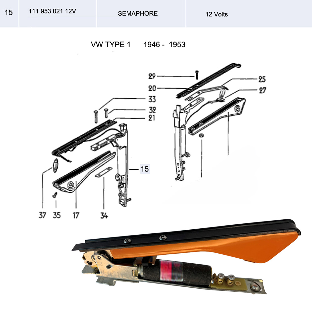 Lai Kam Wah Sdn. Bhd. Specialist in VW Aircooled Parts - 111953021-12V - Semaphore - 12Volts