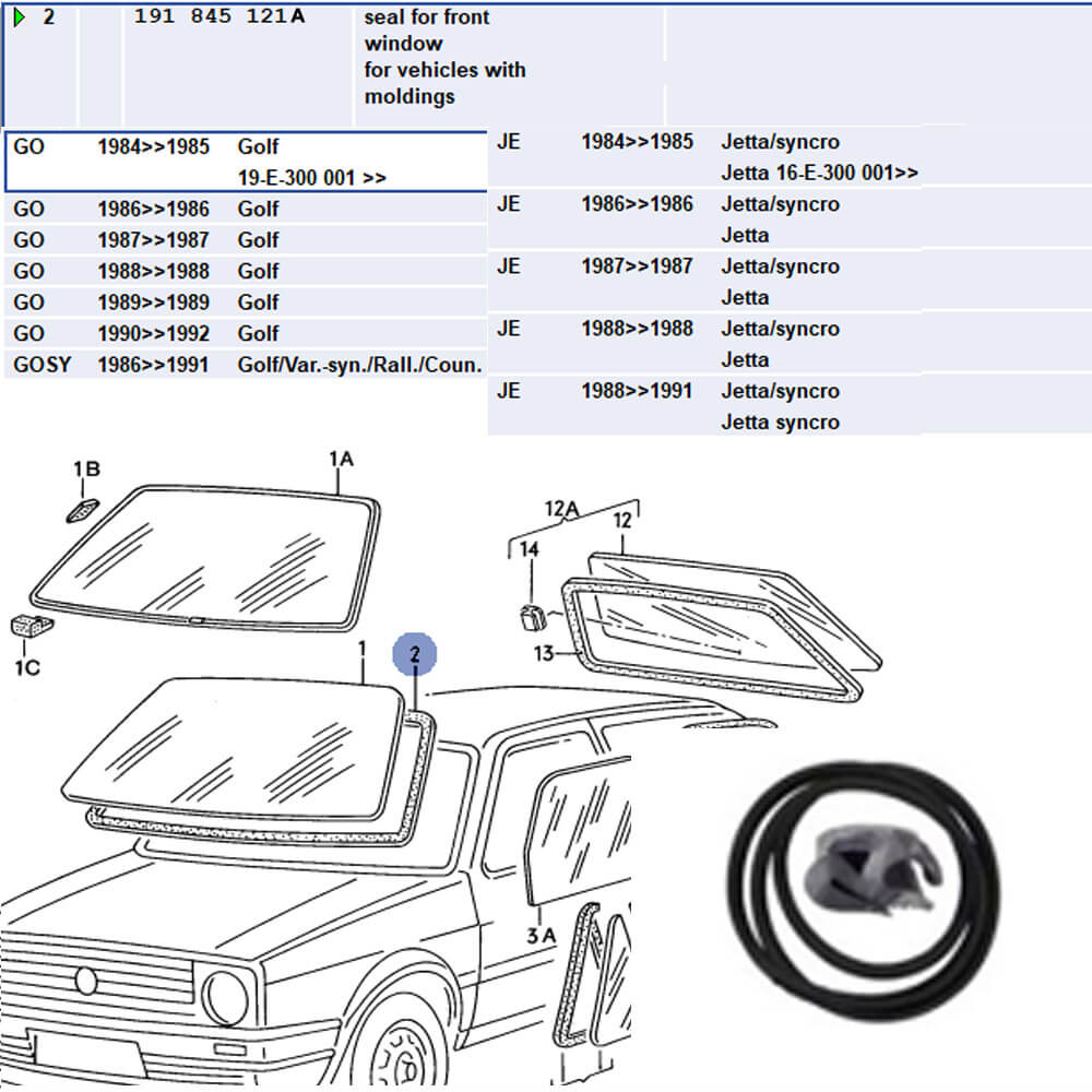 Lai Kam Wah Sdn. Bhd. Specialist in VW Aircooled Parts - 191845121A - Seal For Front Window