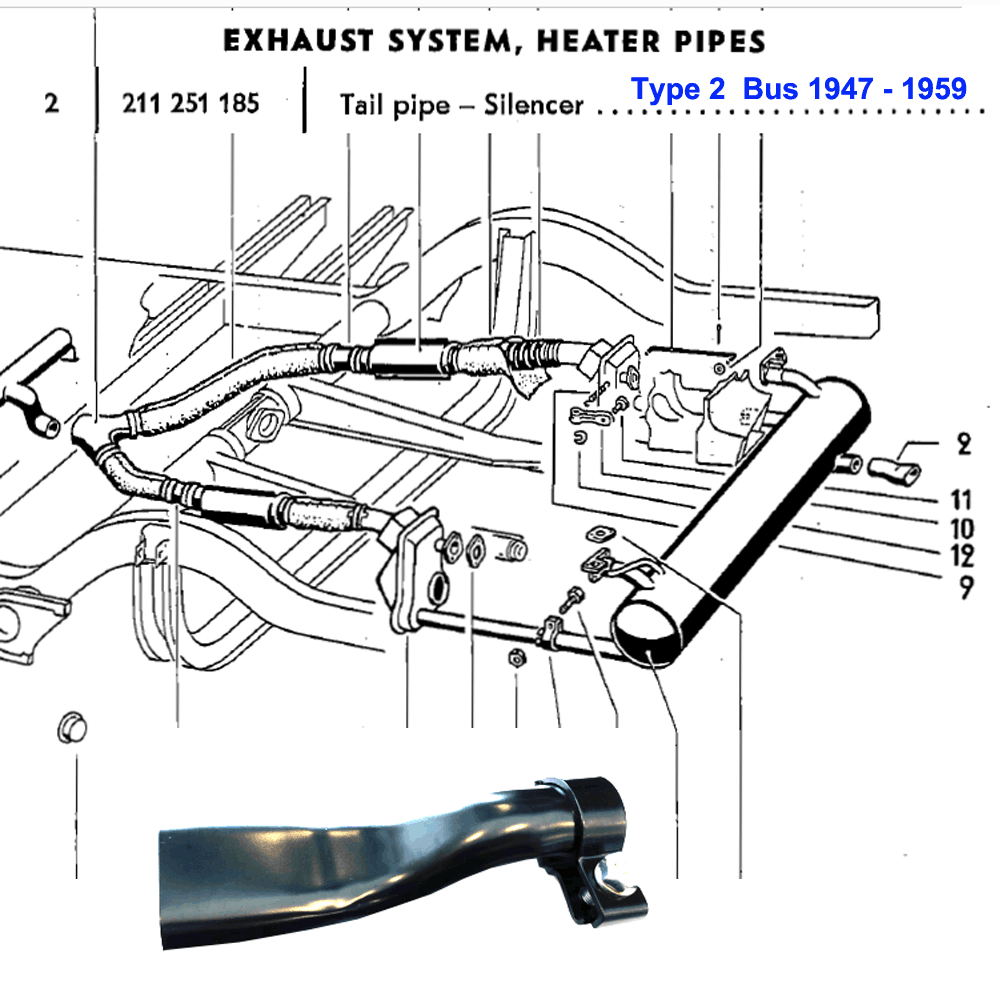 581152112 - EXHAUST HEATER PIPES